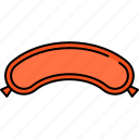 beef, breakfast, food, meat, sausage icon