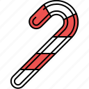 candy, cane, christmas, food, sweet icon