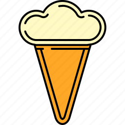 cold, cone, cream, food, ice, sweet, waffle icon