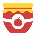 apple jam, container, marmalade, preserved food, savoury spread icon