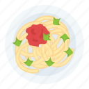 cooked pasta, food, meal, noodles dish, staple food icon