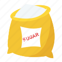 bakery, bakeshop, sugar, sugar bag, sugar sack icon