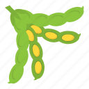 green beans, green vegetables, lima beans, protein food, vegetable icon