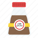 sauce, seasoning, soy sauce, soy sauce bottle, soy sauce brand icon