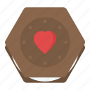 cake, cake for valentine, cake with red heart, chocolate cake, dessert icon