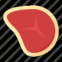 beefsteak, food, meat, steak, steak dish icon