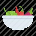salad bowl, vegetables, vegetables bowl, vegetables salad, vegetarian icon