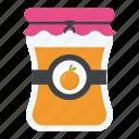fruit preserves, fruit storage, orange jam, orange marmalade, preparations of fruits icon