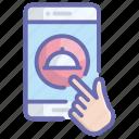 food app, food menu, food order, food services, mobile app icon