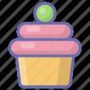 bakery food, dessert, fairy cake, muffin, wedding cupcake icon
