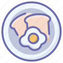 breakfast, cooking, egg, egg frying, food, fried egg icon