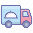 delivery automobile, delivery truck, delivery van, delivery vehicle, food delivery icon