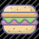 burger, fast food, food, hamburger, junk food, meal icon