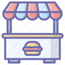 cafe desk, cafe place, cafe shop, cafe stall, cafe table, coffee counter, front cafe icon