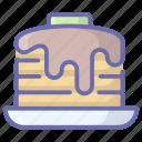 bakery, cream cake, dessert, dripping cake, sweet food icon