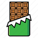 chocolate bar, dessert, snack, sweet, wrapped chocolate icon