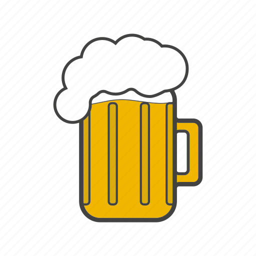 alcohol, ale, beer, drink, glass, malt, suds icon