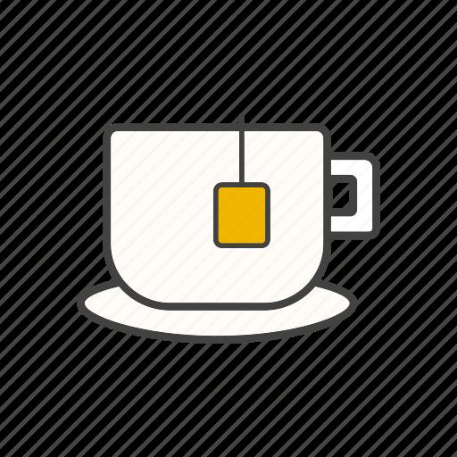 cup, drink, tea, teabag, teacup icon