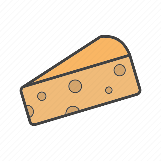cheese, dairy, piece icon