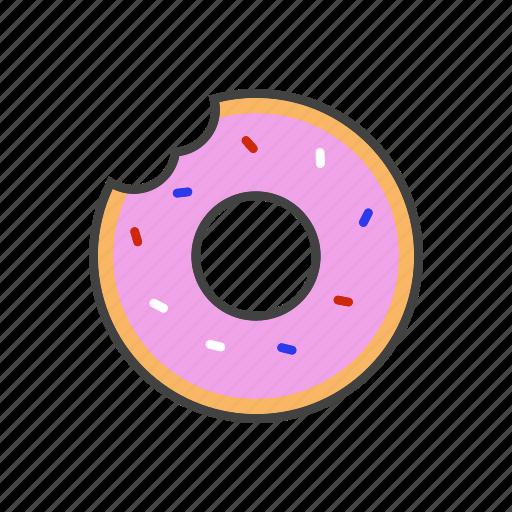 cruller, donut, doughnut, fritter icon