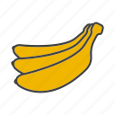 banana, fruit, tropical icon