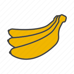 banana, fruit, tropical icon