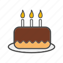 birthday, cake, gateau, tart icon