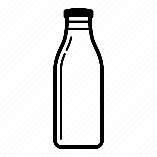 bottle, dairy, dairy cow, drink, milk, milk bottle icon