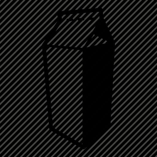 beverage, dairy, drink, fresh milk, juice carton, milk, milk carton icon