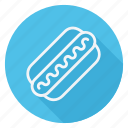 appliance, cooking, drinks, fast, food, hotdog, meal icon