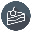 appliance, cake with cherry, cooking, dessert, drinks, gastronomy, sweet icon