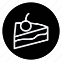 appliance, cake, cake with cherry, cooking, drinks, food, gastronomy icon