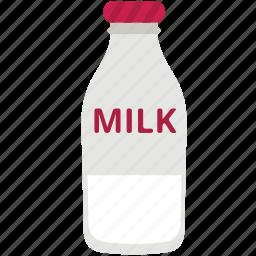 drink, food, health, milk, milk bottle icon