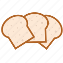 baguette, bread, food, health, hot, sandwich icon
