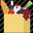 shopping, food, shopping bag, supermarket, health, fruits, vegetables