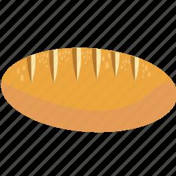 baguette, bake, bread, cereal, fiber, food icon