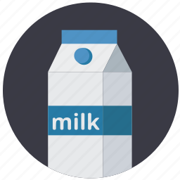 cardboard, drink, glass, healthy, milk icon