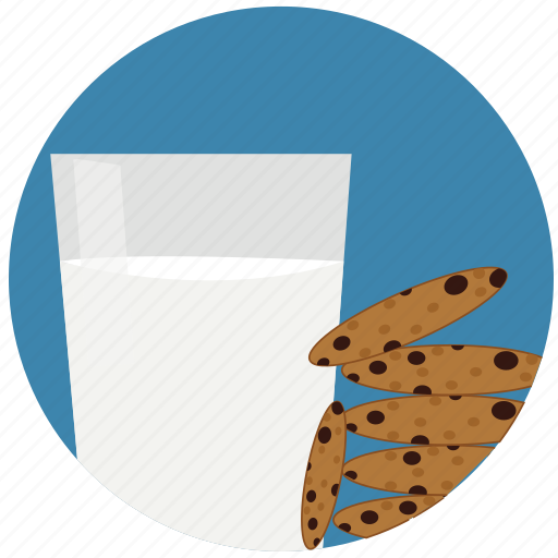 chocolate, cookies, food, glass, health, milk, pastry icon