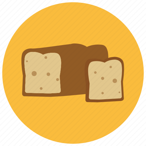 bread, food, loaf, pastry, slice icon