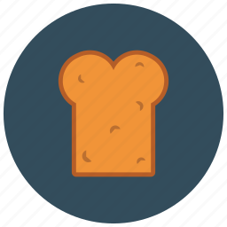 bread, food, fresh, pastry, slice icon