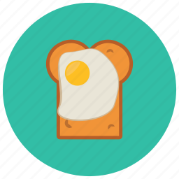 bread, egg, food, pastry, slice icon