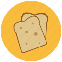 bread, food, fresh, pastry, slices icon