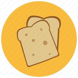 bread, food, fresh, pastry, slices icon