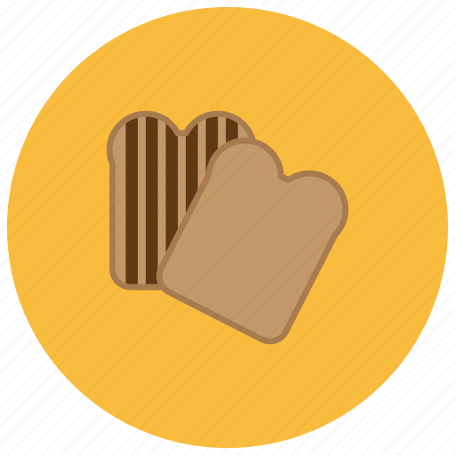 bread, food, grilled, pastry, slices icon