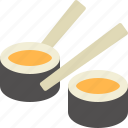 sushi, japanese, food, roll, chopsticks