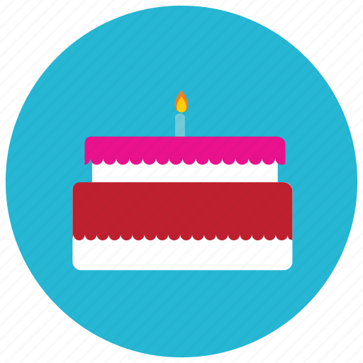 birthdaycake, candle, dessert, food, layered, sweets icon