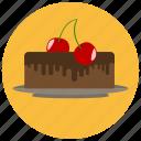 cake, cherry, chocolate, dessert, food, sweets