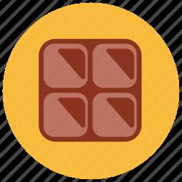 chocolate, dessert, food, piece, sweets icon