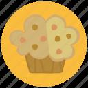cupcake, dessert, food, pastry, sweets