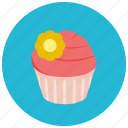 cupcake, decoration, dessert, food, frosting, sweets icon